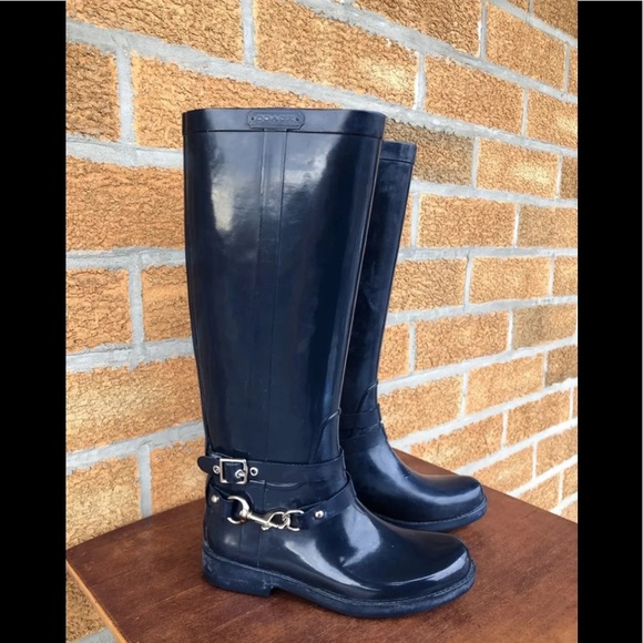 Coach Shoes - Coach Rain Boots lori size 6